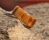 Anello a fascia in legno di castagno