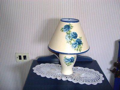 Lampada rose blu