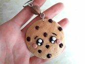 Adotta Cookie // Portachiavi Cookie con Perlina Spirale // Il Migliore Amico di Zenzy // Fatto a Mano ❤