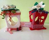 Lanterna feltro, lanterna di Natale, lanterna, regalo Natale, bomboniera, lanterna natalizia