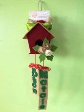 Addobbo natalizio, casetta addobbo, casetta natalizia, fuoriporta, regalo Natale