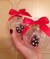"Pallina natalizia con portachiavi ""Pan di stelle"""