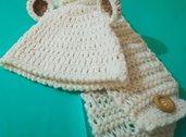 Cappellino  e sciarpa  bebè neonato crochet