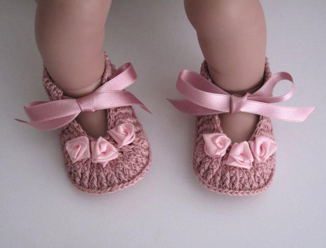 Scarpine Rosa Antico Alluncinetto Bambini Abbigliamento Di V