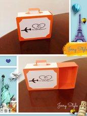 Scatoline portaconfetti a forma di valigia
