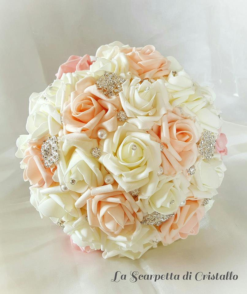 Bouquet Per La Sposa.Bouquet Sposa Rose In Foam