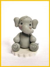 Elefantino nascita battesimo compleanno segnaposto bomboniere bomboniera
