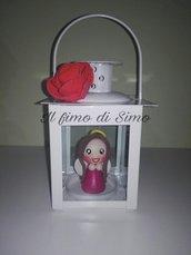 idea regalo lanterna con angioletto in pasta polimerica