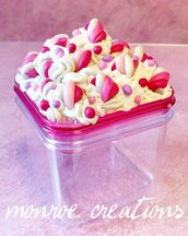 Marshmallows - portacaramelle decorato -