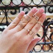 Anello in argento Gravità per falangi, fatto a mano, regolabile
