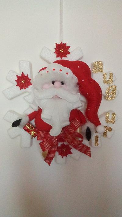 Babbo Natale su fiocco di neve - Feste - Natale - di ...