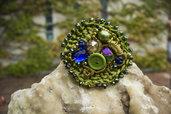Collezione come pietra - Bracciale verde curvy