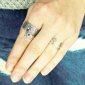 Anello in argento Segreto, fatto a mano, regolabile