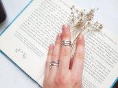 Anello in argento Labirinto, fatto a mano, regolabile