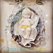 Gesù bambino in polvere di ceramica