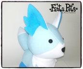 Pupazzo Volpe Kon-Kon delle Nevi - Fanta Pets by Nixie Creations
