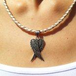 Ciondolo in argento Ali d'angelo, fatto a mano