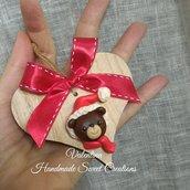 Faccino orsetto cuore Natale