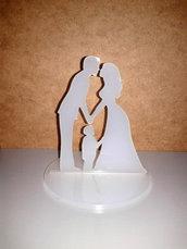 Topper cake sposi con bambino