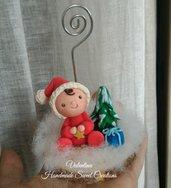 Portafoto Natale bimbo albero