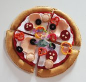 kit gioco pizza in feltro