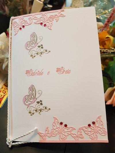 Libretto Messa con applicazione farfalle Personalizzato
