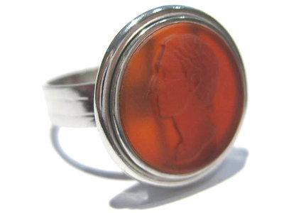 anello corniola rosso