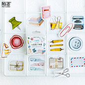 "LOTTO 45 stickers adesivi in carta ""Scrapbooking Giapponese"" (da 1 a 3 cm)"