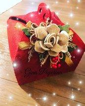 Portapanettone portatorta natalizio