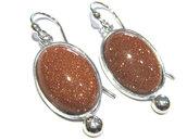 orecchini eliolite goldstone