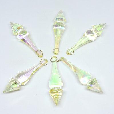 Set N° 12  pz pendaglio cangiante  in Cristallo acrilico, addobbo Natale, idea decorazione