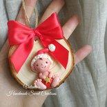 Medaglione  con bebè Natale