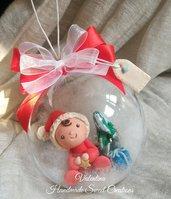 Bimbo nella sfera regalo Natale
