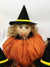 Schema Streghetta zucca - Strega di stoffa - Zucca Halloween - decorazione per Halloween