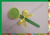 Bomboniera/segnaposto dolcino in gomma verde e giallo