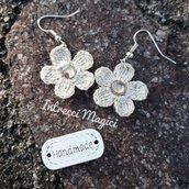 Orecchini all'uncinetto: Little flowers