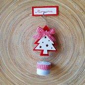 Addobbi Natalizi Segnaposto natalizio portafoto www.misshobby.com doni e bomboniere regali tavola natalia