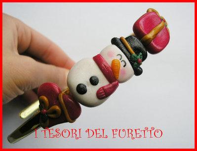 """Cerchietto Natale """" Pupazzo di neve """" omino regalo Capelli accessori Pupazzo di neve dea regalo kawaii headband snowman"""