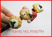 """Cerchietto Natale """" Orsetto natalizio e biscotti  """" omino regalo Capelli accessori Pupazzo di neve dea regalo kawaii headband snowman"""