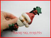 """Cerchietto Natale """" Babbo Natale agrifoglio """" omino regalo Capelli accessori Pupazzo di neve dea regalo kawaii headband snowman"""