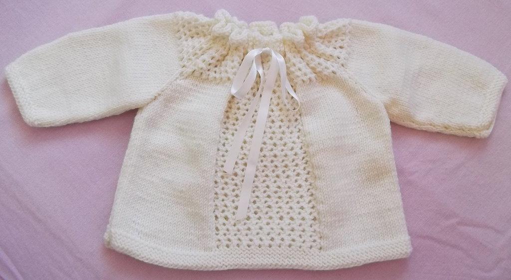 Maglia neonato colore Bianco modello simil topdown adatto da 0-3 mesi - 100% 10a2b3fe8575