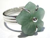 anello fiore verde avventurina