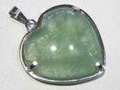 ciondolo fluorite verde cuore