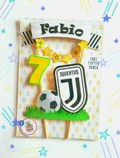 Juventus cake topper squadra di calcio