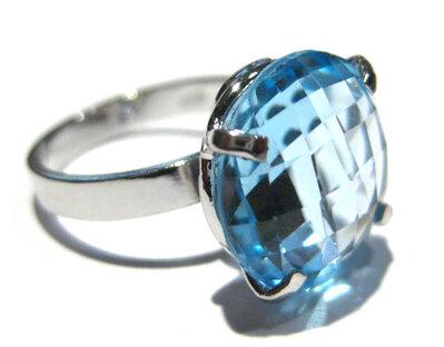 anello topazio azzurro