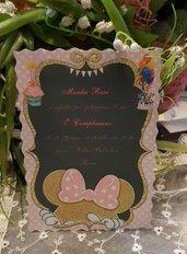 Invito Compleanno 1 Anno Minnie