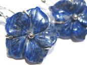 orecchini lapislazzuli fiore