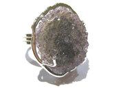 anello ametista viola druzy