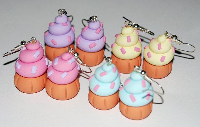 Orecchini Cupcake Lilla