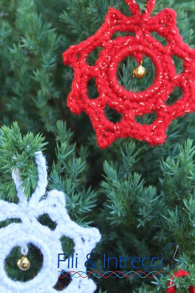 Addobbo Natale all'uncinetto / decorazione albero o finestra